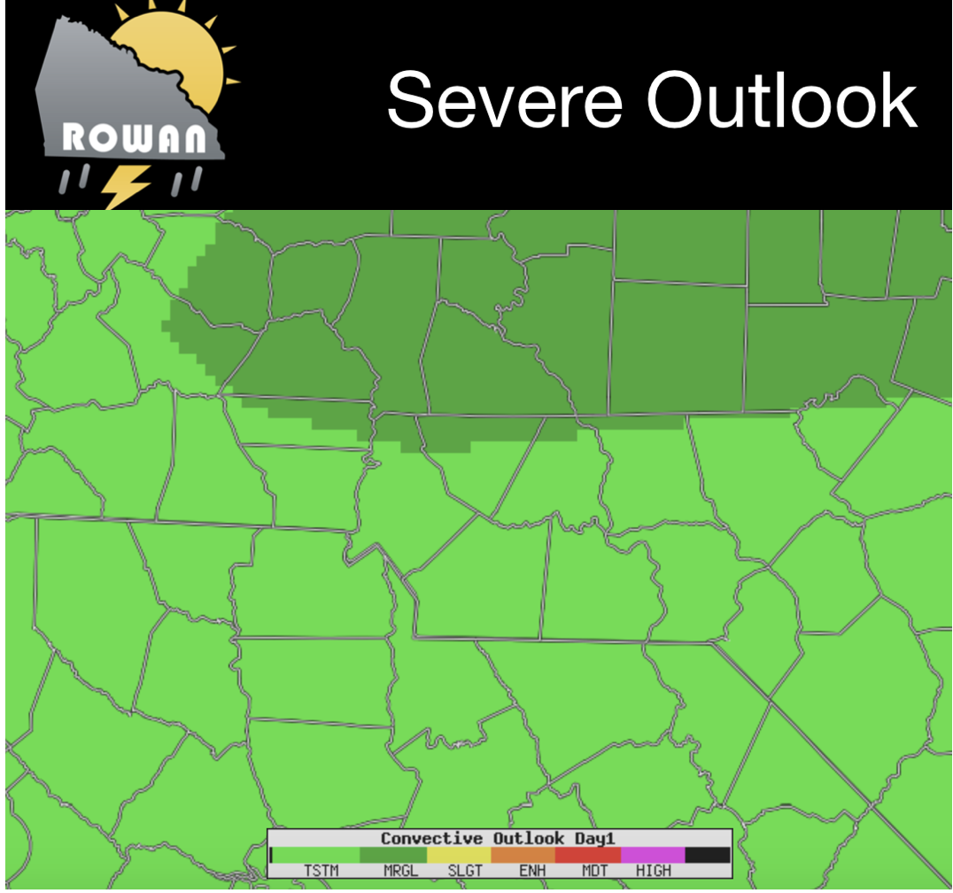 Marginal Risk For Severe Weather This Evening - Rowan County Weather